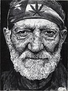 Country Art Drawings Prints - Free Willie Print by Jeff Ridlen