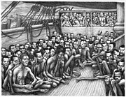 Slave Drawings - Freed Slave Ship by Granger