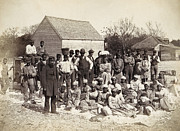 African-american Photo Framed Prints - Freed Slaves, 1862 Framed Print by Granger