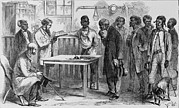 Voters Prints - Freedmen At A Voter Registration Print by Everett