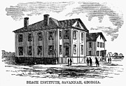African-american Institute Photos - Freedmen School, 1868 by Granger