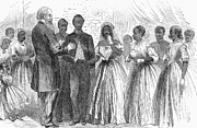 Freedmen Framed Prints - Freedmen: Wedding, 1866 Framed Print by Granger