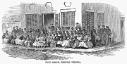 Freedmen Framed Prints - Freedmens School, 1868 Framed Print by Granger