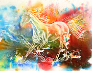 Impressionistic Horse Paintings - Freedom by Art by Carol May