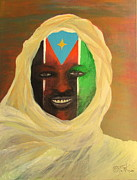 Democracy Mixed Media Framed Prints - Freedom Comes To Sudan Framed Print by Tinsu Kasai