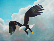 American Eagle Paintings - Freedom Eagle by Randall Brewer