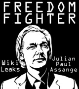 Corruption Mixed Media - Freedom Fighter Julian Assange by Brenda Kato