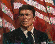 Reagan Painting Framed Prints - Freedom Fighter Framed Print by Robert Scott