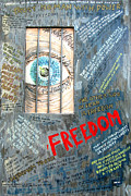 Founding Fathers Mixed Media Metal Prints - Freedom Metal Print by Ian  MacDonald