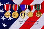 Medals Framed Prints - Freedom is Never Free Framed Print by James Bo Insogna