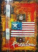 Patriotic Mixed Media Originals - Freedom isnt free by Daniel Henigman