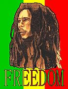 Bob Marley Mixed Media - Freedom by Jason Kasper