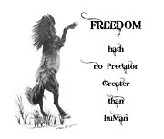 Freedom Print by Marianne NANA Betts