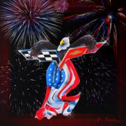 4th July Digital Art Posters - Freedom Poster by Patricia Stalter