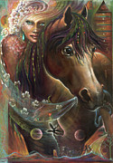 Visionary Artist Painting Framed Prints - Freedom Pony Framed Print by Blaze Warrender