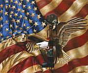 Liberty Paintings - Freedom by Renee  Lindsey