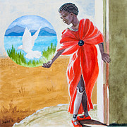 Sierra Leone Prints - Freedom Rising Print by Kathryn Donatelli