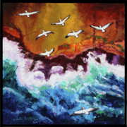 Pelican Painting Originals - Freedom to Migrate by John Lautermilch