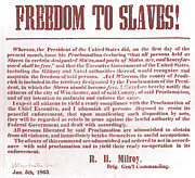 Abolition Posters - Freedom To Slaves Poster by Photo Researchers, Inc.