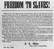 Abolition Photo Posters - Freedom To Slaves Poster by Photo Researchers