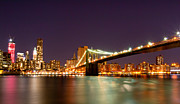Y120817 Art - Freedom Tower And Brooklyn Bridge by Arnab Guha Photography