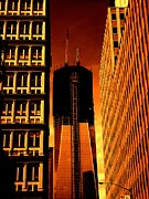 Chicago Digital Art Metal Prints - FREEDOM TOWER - One World Trade Center - in the making Metal Print by Dan Haraga