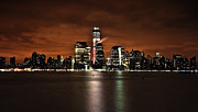 New York City Skyline Framed Prints - Freedom Tower Skyline Framed Print by Vicki Jauron