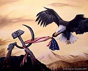 Patriotic Paintings - Freedoms battle by Antonio F Branco