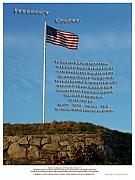 Revolutionary War Mixed Media Metal Prints - Freedoms Colors Metal Print by Patrick J Maloney