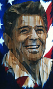 Freedom Mixed Media - Freedoms Hope Ronald Reagan by Brad Jensen