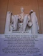 Lincoln Memorial Mixed Media Posters - Freedoms Spirit Poster by Patrick J Maloney
