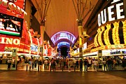 Crowds  Prints - Freemont Street Las Vegas Print by David Gardener