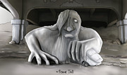 Seattle Digital Art Originals - Freemont Troll by Josh Burns