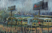 Bus Pastels - Freeway Exit by Donald Maier