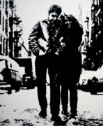 Woody Allen Prints - Freewheelin Print by Luis Ludzska