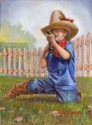 Fence Paintings - Freeze Buckaroo by Jeff Brimley