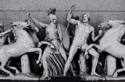 Greek Sculpture Prints - Freeze from the Parthernon 1 Print by Linda Phelps