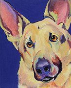 Acrylic Dog Paintings - Freida by Pat Saunders-White            