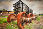 Train Stations Photos - Freight Car and Axels by Paul Ward