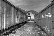 Train Pictures Prints - Freight Cars in Silverton Print by Ken Smith