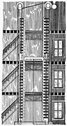 Freight Elevator, 1876 Print by Granger