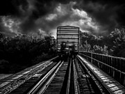 Train Bridge Prints - Freight Train Blues Print by Bob Orsillo