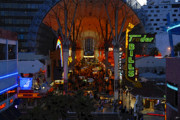 Fremont Street Prints - Fremont Street Nevada Print by David Lee Thompson