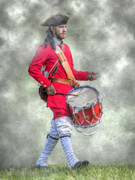 Drummer Framed Prints - French Army Drummer Fort Ligonier Portrait  Framed Print by Randy Steele