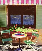 French Bistro In Napa Valley Print by George Oze
