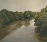 Overhanging Paintings - French Broad River by Peter  Campbell