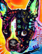 Pop  Paintings - French Bulldog I by Dean Russo