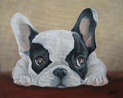 French Bulldog Paintings - French Bulldog by Jindra Noewi