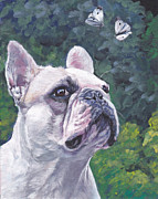 Dog Art Paintings - French Bulldog by Lee Ann Shepard