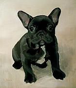 French Bulldog Paintings - French Bulldog by Lola M Black